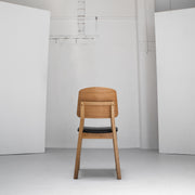 Verona Dining Chair - Oak + Black