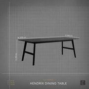 Hendrix Dining Table - 2200