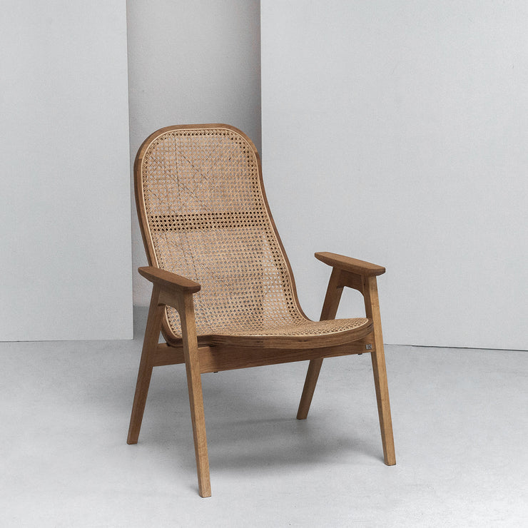 Hans K Scandinavian Racquet cane Armchair at EDITO Furniture