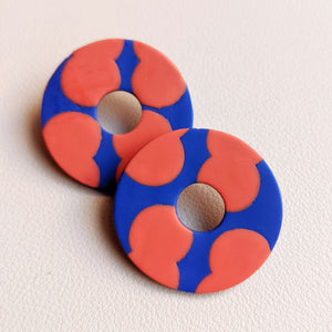 Seconds Sale - Circus Peanut Donut Studs