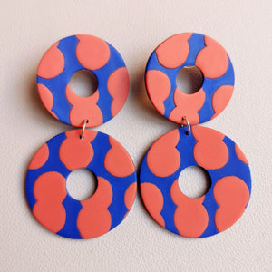 Seconds Sale - Circus Peanut Double Donut Dangles