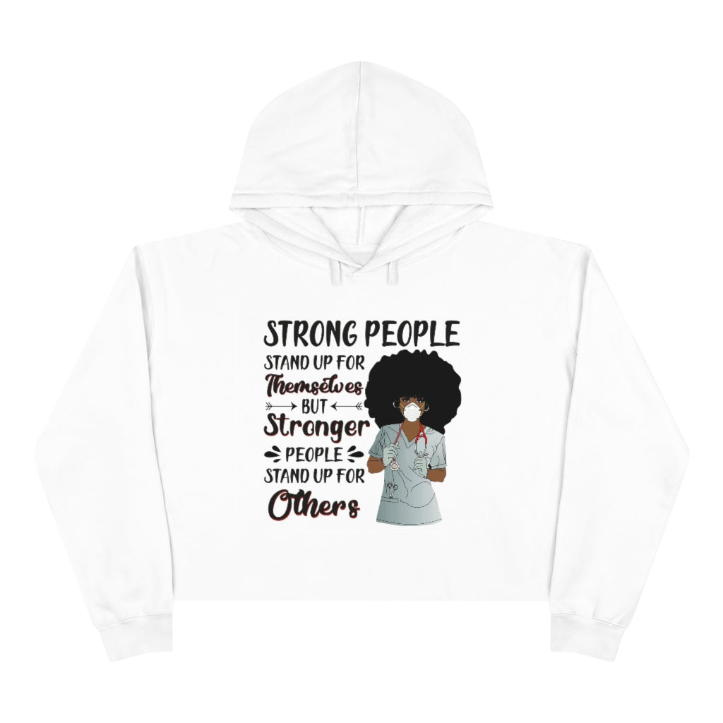Strong People Crop Hoodie