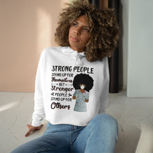 Load image into Gallery viewer, Strong People Crop Hoodie