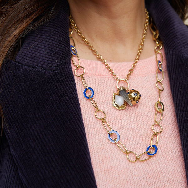 Ellis Necklace - Navy