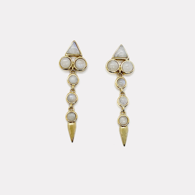 Ivy Drop Earrings - Moonstone