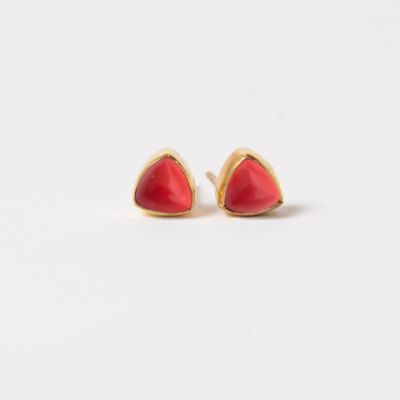 Ivy Studs - Coral