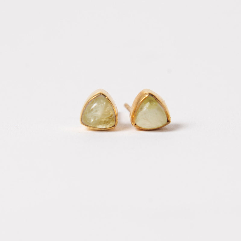 Ivy Studs - Lemon Quartz