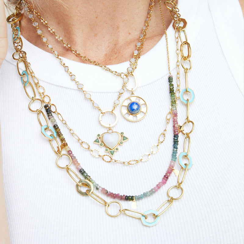 Poppy Necklace - Moonstone