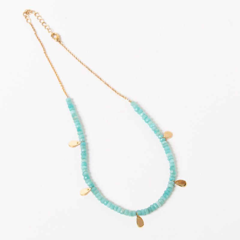 Poppy Necklace - Blue Amazonite