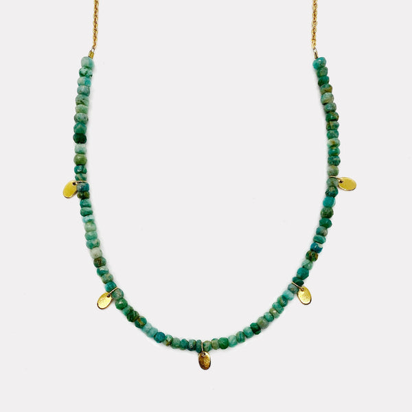 Poppy Necklace - Green Amazonite