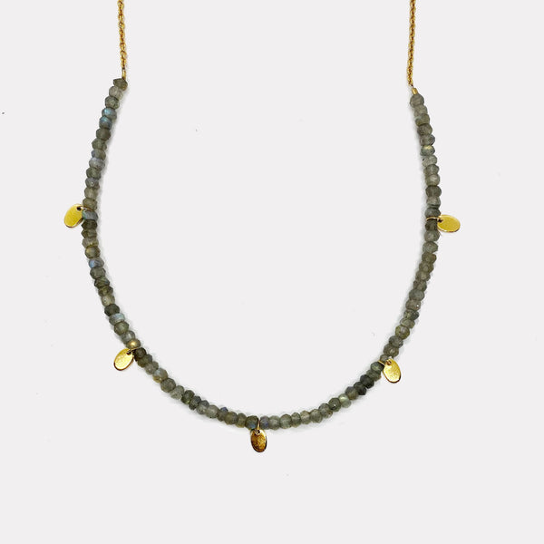 Poppy Necklace - Labradorite