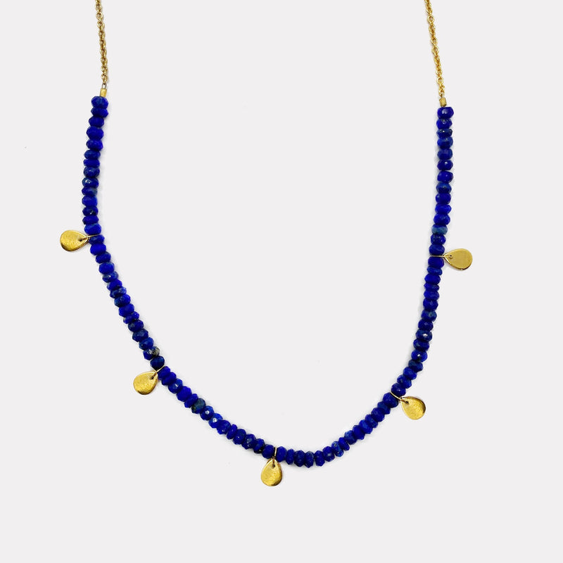 Poppy Necklace - Lapis