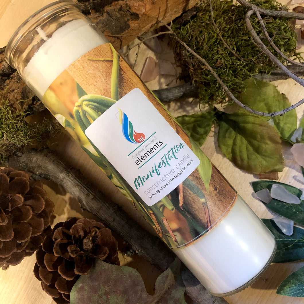 EARTH: Manifestation - 7 Day Tall Pillar Candle