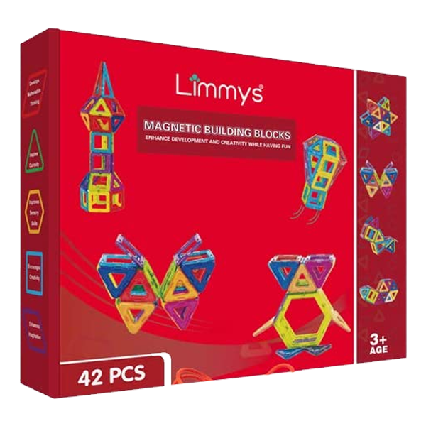 Limmys Magnetic Building Blocks 42 PCS