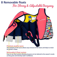 Load image into Gallery viewer, Premium Neoprene Swim Vest for Girls