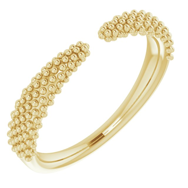 The Caviar Ring Gold