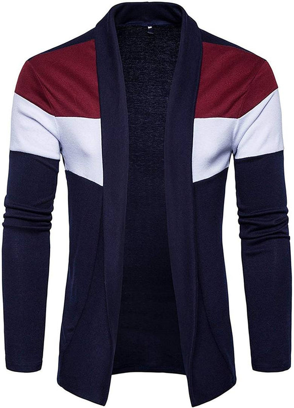 Men's Multicoloured Cotton Long Sleeves Warm Cardigan