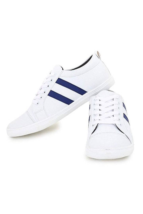 Men's White Canvas Sneakers