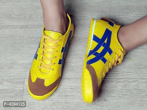 SNEAKERS SHOES TRENDY YELLOW