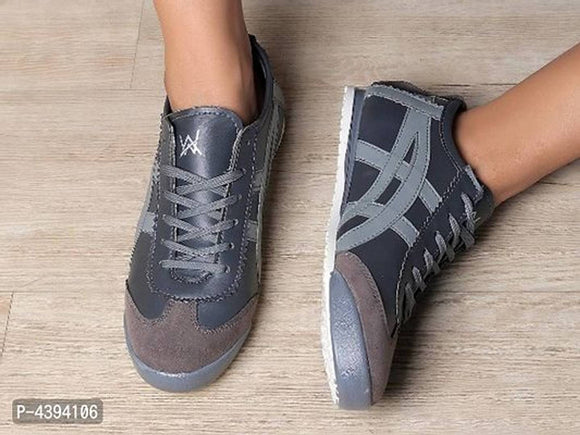 Men's High Fashion Grey Casual Sneakers