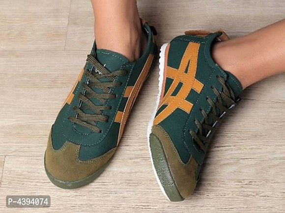 Men's High Fashion Grain Casual Sneakers
