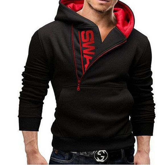 Men's Solid Long Sleeves Red Biker Jacket