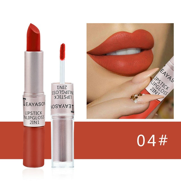 Sexy red waterproof nude matte velvet gloss lip gloss