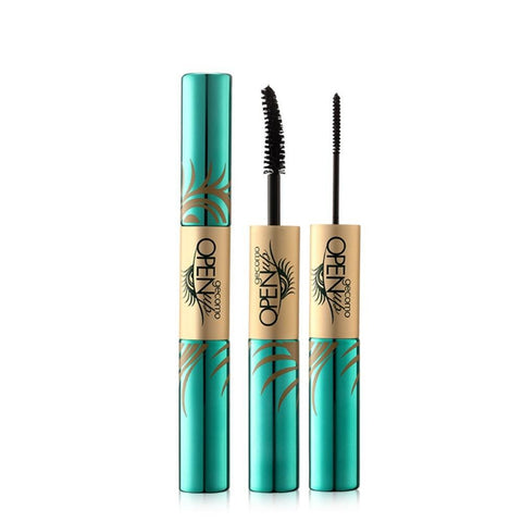 Double head 4D anti-mascara waterproof mascara fiber black ink