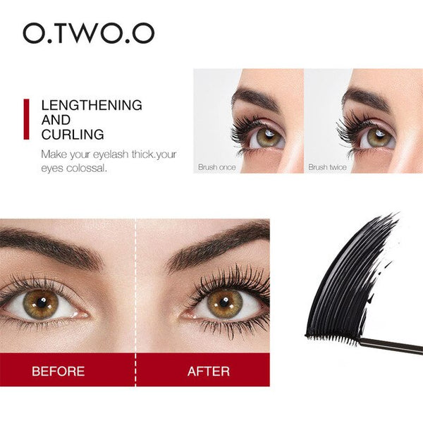 4D silk fiber mascara waterproof mascara lengthen black eyelash thicken