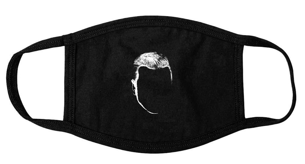 Young Grey Logo Face Mask (Black)