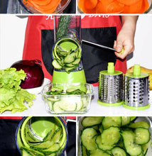 Load image into Gallery viewer, 3 In 1 Round Vegetable Cutter Potato Multi Slicer Cheese Grater Chopper