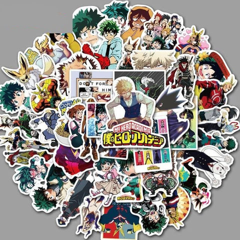 Stickers My Hero<br> Academia 50 Pièces