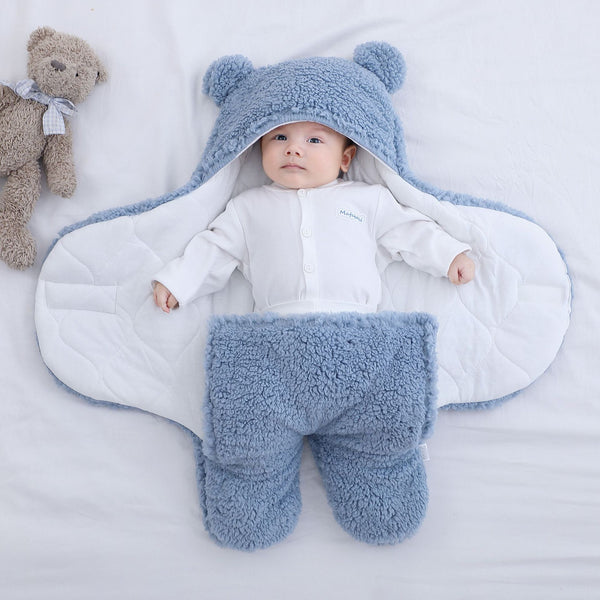 Baby Sleeping Bag - Ultra-Soft Fluffy Fleece Newborn Blanket