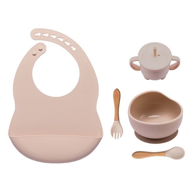 5PCS Silicone Dinnerware Set for Babies