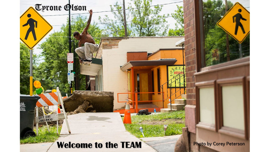 Old School Welcomes to the Team Legendary Skater Tyrone Olson