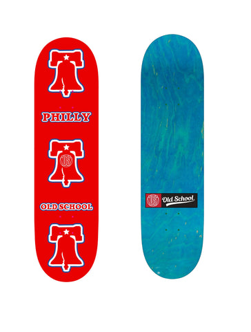 Old School Team Model Philly Liberty Bell Popsicle Shape Deck