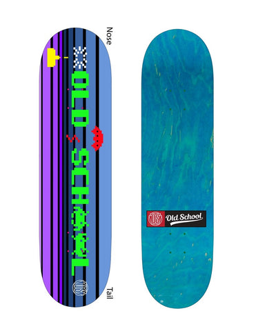 Old School Team Model Invader Popsicle Shape Deck