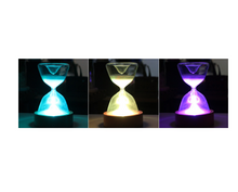 Load image into Gallery viewer, Timed colourful hourglass with sleeping remote light - Gifts and Gadgets
