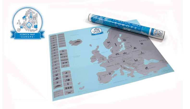 European scratch map - Gifts and Gadgets
