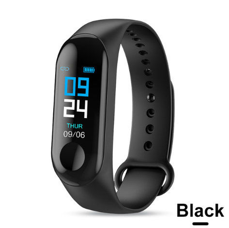 Smart Bracelet Heart Rate and Blood Pressure Exercise Meter Step Information Push Smart Reminder Color Bracelet - Gifts and Gadgets