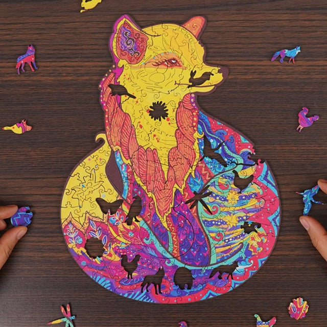 Wooden Puzzle Each Piece Is Animal Shaped - Gifts and Gadgets