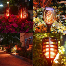 Load image into Gallery viewer, LED Solar Flame Lamp - Gifts and Gadgets