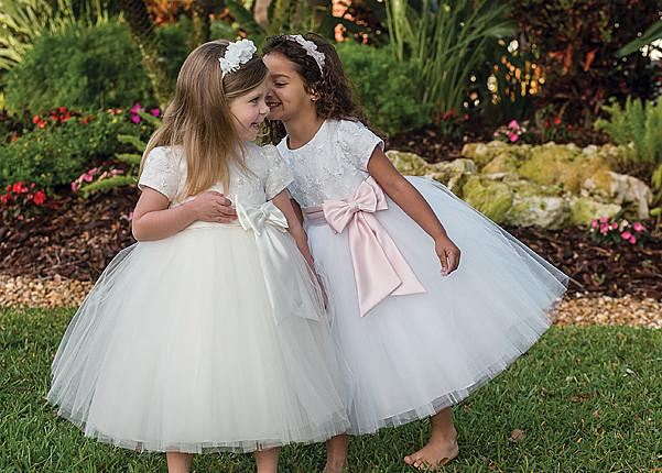 Sarah Louise 070034 white Flower Girl / Special Occasion Dress