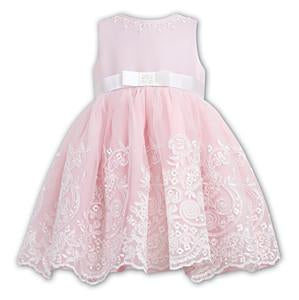 Sarah Louise 070017 Pink Ivory Special Occasion Dress