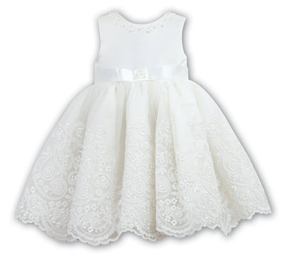 Sarah Louise 070017 Ivory Christening Dress