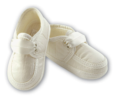 Sarah Louise Boys Ivory Cream Christening Shoes 477 004477