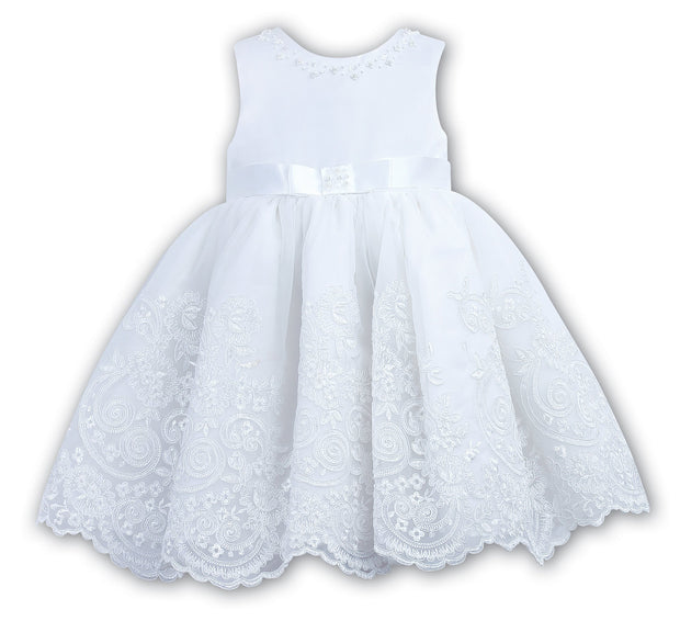 Sarah Louise 070017 White Christening / Special Occasion Dress White