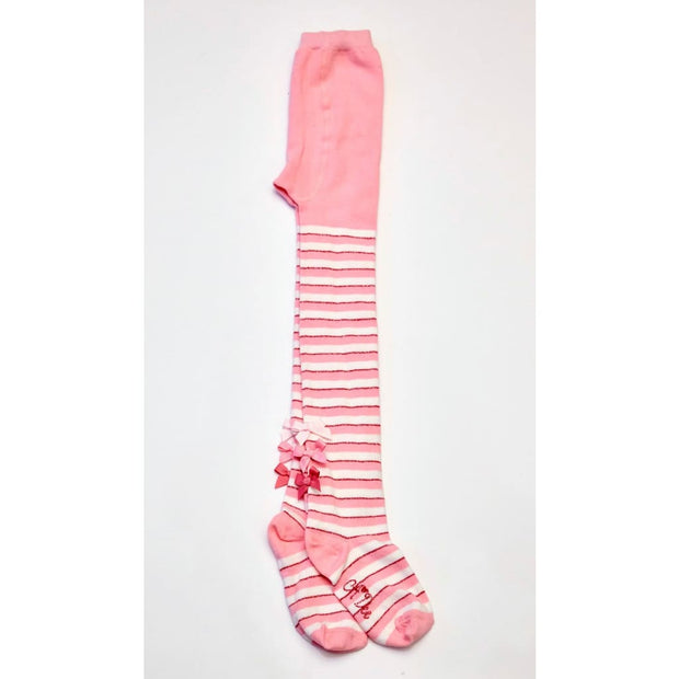 A Dee Alice Pink Stripe Tights W172910 - Socks & Tights