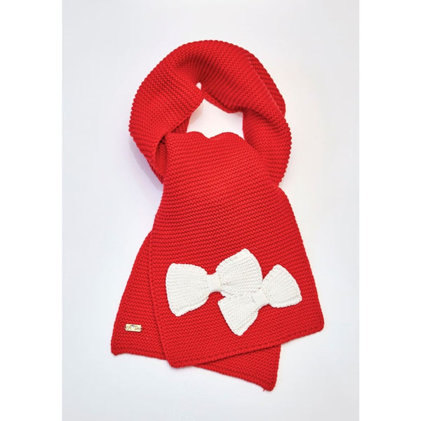 A Dee Arrabella Red Knitted Scarf W173922 - Scarf And Hat Sets