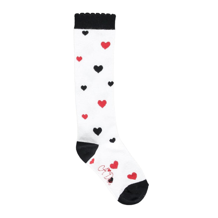 A Dee Love Songs White Heart Socks Alex W183907 - Socks